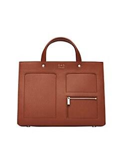 31541cb09f00 OAD. Pebbled Leather Pocket Tote Bag