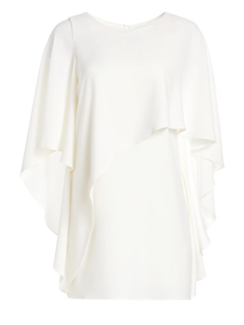 Halston Flowy Sleeve Boatneck Shift Dress | SaksFifthAvenue