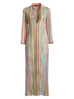 Missoni Tops Rainbow Stripe Coverup Caftan