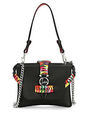 Small Rubylou Braided Leather Crossbody Bag by Christian Louboutin