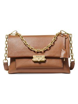 Large Cece Leather Shoulder Bag