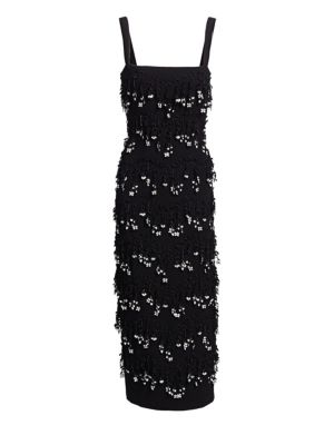 Embroidered Sheath Dress by Lela Rose