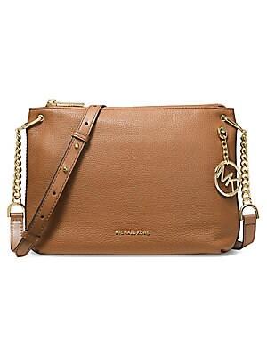 b97140b5876c59 MICHAEL Michael Kors - Large Lillie Pebbled Leather Messenger Bag