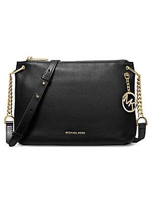 ac5e52c38501d7 MICHAEL Michael Kors - Large Lillie Pebbled Leather Messenger Bag