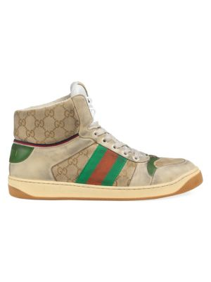 d2f3c5ef1452 Gucci - Glitter Web Sneaker With Studs - saks.com