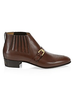 c8a77236316 QUICK VIEW. Gucci. Worsh Buckle Leather Boots