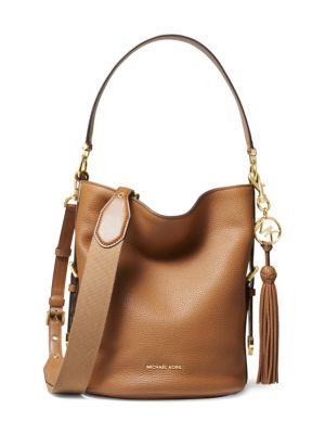 4acf8e1d4 MICHAEL Michael Kors Medium Brooke Pebbled Leather Bucket