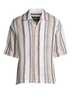 0e59409ab2305 P.L.C.. Striped Linen Vacation Shirt