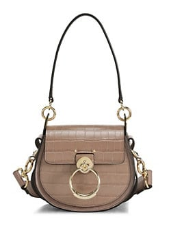 02e9882c1f23 Product image. QUICK VIEW. Chloé. Tess Croc-Embossed Leather Saddle Bag