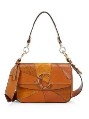 b4cc4a75 Chloé - Small Nile Leather & Suede Bracelet Bag - saks.com