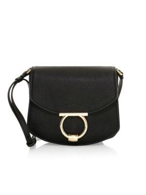 Small Margot Leather Saddle Bag