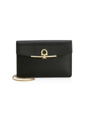Salvatore Ferragamo Score Leather Chain Shoulder Bag