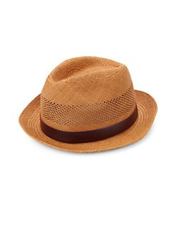 905ba06e284 Paul Smith. Perforated Panama Trilby Hat