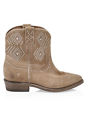 f6b8851cfd9 Frye - Billy Studded Suede Short Cowboy Boots