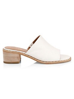 388535d2157 Cindy Leather Mules WHITE. QUICK VIEW. Product image