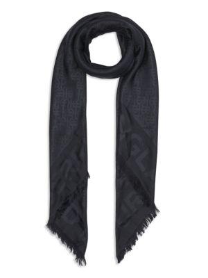 Burberry Accessories Monogram Wool & Silk Jacquard Scarf