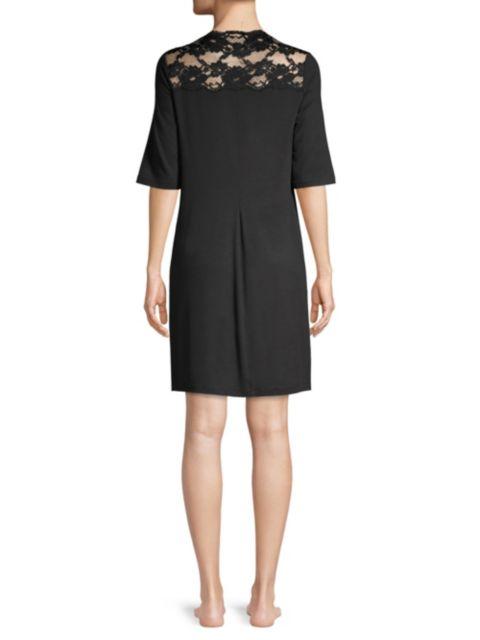 La Perla Lace-Trimmed Short Nightgown | SaksFifthAvenue