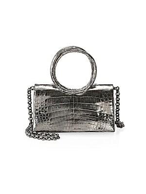 9199552ccf0e4 Nancy Gonzalez - Crocodile Mini Pliss  233 Crossbody Bag - saks.com
