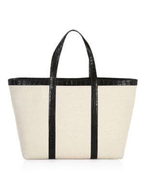 e710abd640c Saint Laurent - Large Leather Shopper Tote - saks.com