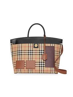 Burberry. Medium Curve Checked Top Handle Bag 24df9073aaa2f