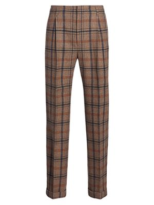 Gucci Mountain Check Wool Blend Trousers