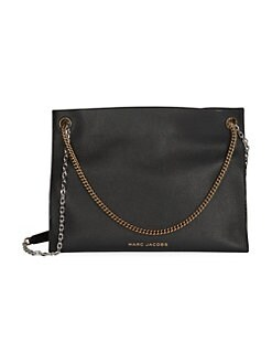 1590774f2580 Double Link Leather Shoulder Bag BLACK. QUICK VIEW. Product image