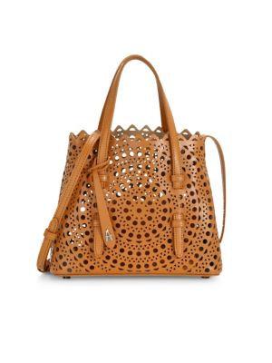 Ala A Mini Mina Vienne Leather Tote