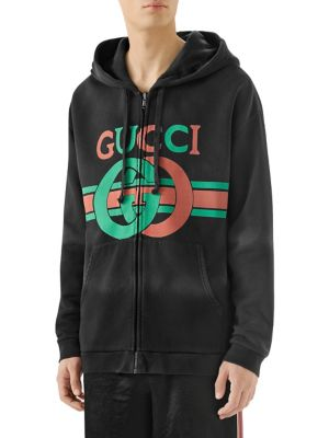 a2ea74f16 Gucci Heavy Felted Cotton Jersey Hoodie. Reversible sweatshirt with Interlocking  G. ...