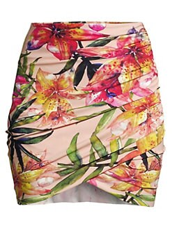 ab8d2a6f01f06 Ebby Ruched Floral Coverup Skirt TIGER LILY. QUICK VIEW. Product image