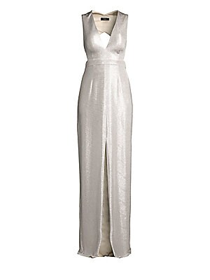 3dd7e363b2df St. John - Brielle Knit V-Neck Gown - saks.com