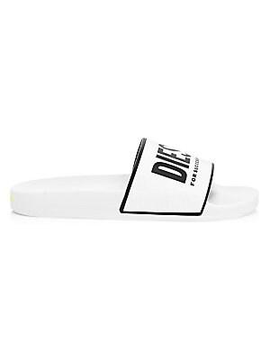 16e7a5fbc7858c Givenchy - Logo Rubber Slides - saks.com