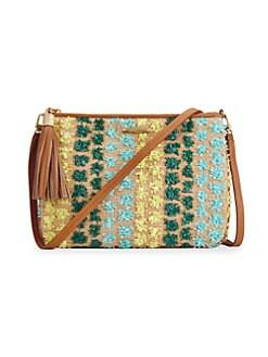 29717ed5cd QUICK VIEW. Gigi New York. Chelsea Pom-Pom Crossbody Bag