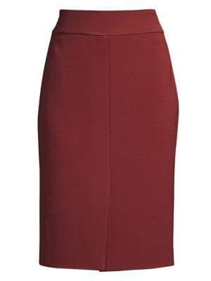 Boss Vemiara Jersey Pencil Skirt