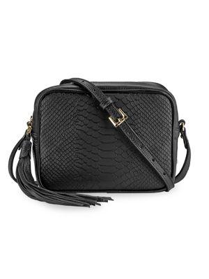 Gigi New York Women's Madison Python-embossed Leather Camera Bag In Black