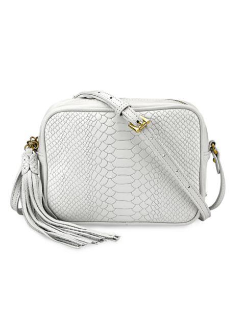 Gigi New York Madison Python-Embossed Leather Camera Bag   SaksFifthAvenue