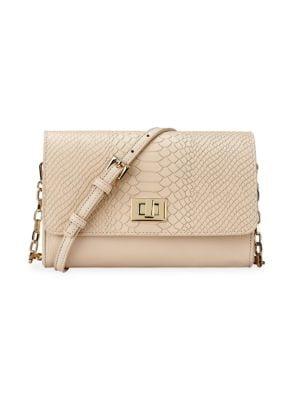 Gigi New York Crossbody Catherine Embossed Python Crossbody Bag