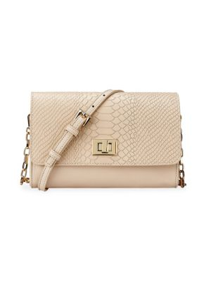 Gigi New York Catherine Embossed Python Crossbody Bag