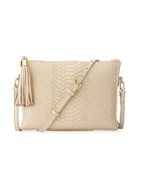Gigi New York Hailey Python-Embossed Leather Crossbody Bag | SaksFifthAvenue
