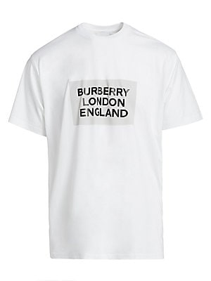 London England Logo Cotton T Shirt by Burberry