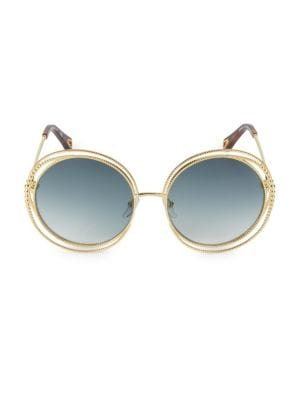 ChloÉ Carlina Oversized Round-frame Sunglasses In Blue And Other