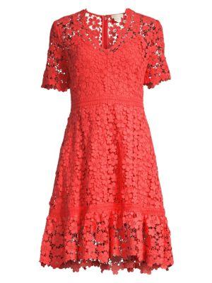 Shoshanna Dresses Toscana Lace Eyelet A-Line Dress