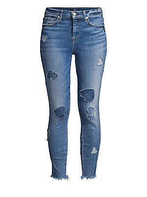 6cb7c1c6042 7 For All Mankind - Pearl Embellished Cropped Jeans - saks.com