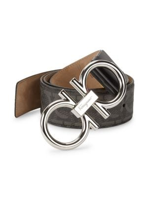 17e586796020 Salvatore Ferragamo - Adjustable & Reversible Gancio Buckle Belt ...