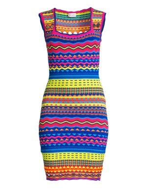 Milly Dresses Technicolor Mini Dress