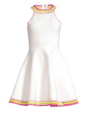 Milly Diamond-Cut Flare Dress