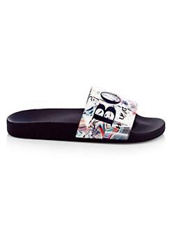 e55922c3bc7 HUGO BOSS - Solar Logo Slide Sandals