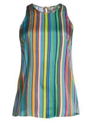Milly Tops Rainbow Stripes Sleeveless Top