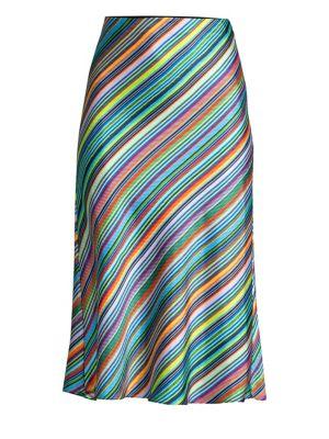 Milly Rainbow Stripe Skirt