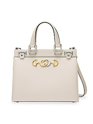Small Borghese Leather Top Handle Bag by Gucci