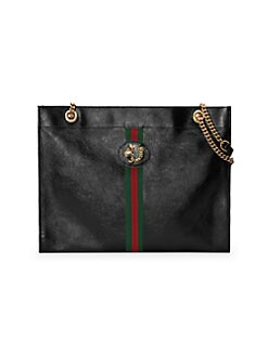 26d09daf64a QUICK VIEW. Gucci. Large Rajah Leather Tote Bag
